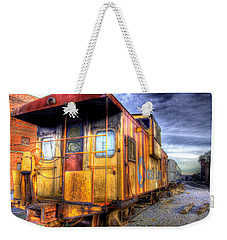 Train Caboose Weekender Tote Bag by Jonny D
