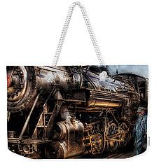 Train - Engine -  Now Boarding Weekender Tote Bag by Mike Savad