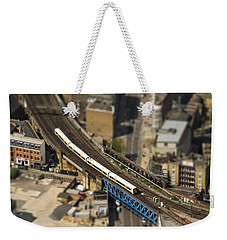 Train In London Weekender Tote Bag