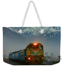 Train In New Zealand Weekender Tote Bag by Amanda Stadther