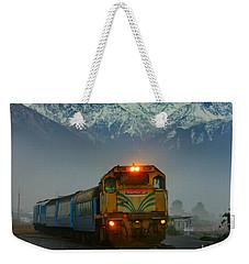 Train In New Zealand Weekender Tote Bag