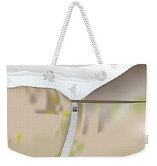 Weekender Tote Bag featuring the digital art Train Landscape by Kevin McLaughlin