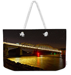 Train Lights In The Night Weekender Tote Bag by Miroslava Jurcik