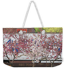 Weekender Tote Bag featuring the photograph Train Tracks by Michael Krek