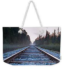 Weekender Tote Bag featuring the photograph Train Tracks To Nowhere by Patrick Shupert