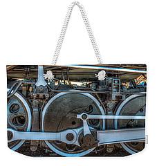Train Wheels Weekender Tote Bag by Paul Freidlund