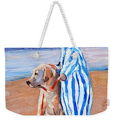 Training Day Weekender Tote Bag by Molly Poole
