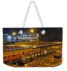 Trains Nyc Weekender Tote Bag