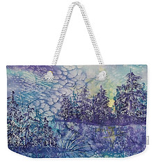Weekender Tote Bag featuring the painting Tranquility by Ellen Levinson