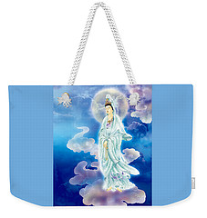Weekender Tote Bag featuring the photograph Tranquility Enabling Kuan Yin by Lanjee Chee