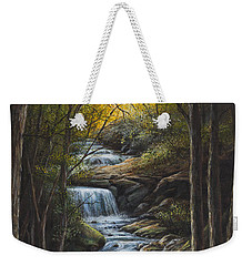 Weekender Tote Bag featuring the painting Tranquility by Kim Lockman