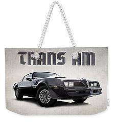 Trans Am Weekender Tote Bag by Douglas Pittman