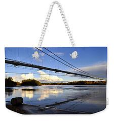 Weekender Tote Bag featuring the photograph Transalaska Pipeline Bridge by Cathy Mahnke