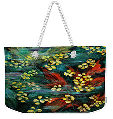 Weekender Tote Bag featuring the painting Transforming... by Xueling Zou