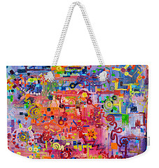 Transition To Chaos Weekender Tote Bag by Regina Valluzzi