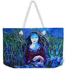 Eostra Holds The Moon Weekender Tote Bag by Trudi Doyle