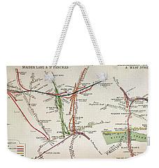 Transport Map Of London Weekender Tote Bag by English School