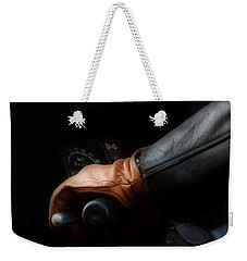 Leather Goes For A Ride Weekender Tote Bag