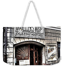 Weekender Tote Bag featuring the photograph Travellers Hostel - Cesky Krumlov by Juergen Weiss