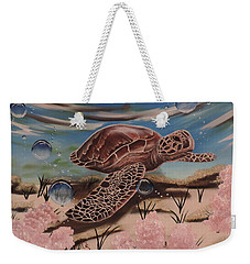 Weekender Tote Bag featuring the painting Travis by Dianna Lewis