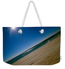 Weekender Tote Bag featuring the photograph Treads In The Sand by DigiArt Diaries by Vicky B Fuller