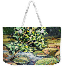 Tree And Stream Weekender Tote Bag