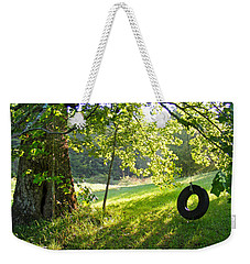 Tree And Tire Swing In Summer Weekender Tote Bag