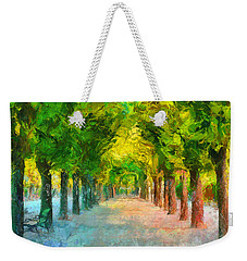 Tree Avenue In The Vienna Augarten Weekender Tote Bag by Menega Sabidussi