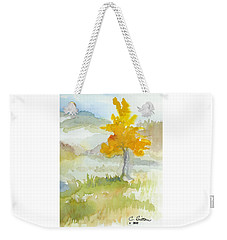Weekender Tote Bag featuring the painting Tree by C Sitton