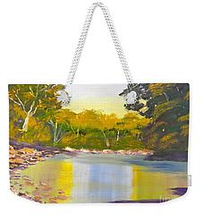 Tree Lined River Weekender Tote Bag