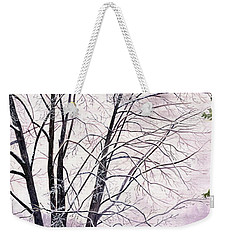 Weekender Tote Bag featuring the painting Tree Memories by Melly Terpening