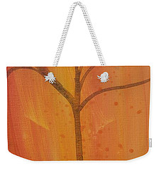 Tree Of Three Coral Weekender Tote Bag by Robin Maria Pedrero