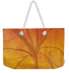 Tree Of Three Gold Weekender Tote Bag by Robin Maria Pedrero