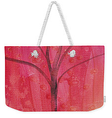 Tree Of Three Pink Weekender Tote Bag by Robin Maria Pedrero