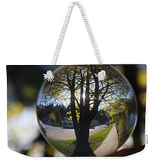 Weekender Tote Bag featuring the photograph Tree On The Street by Cathie Douglas