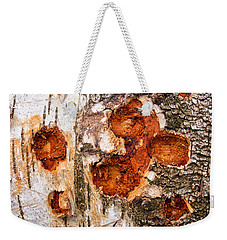 Tree Trunk Closeup - Wooden Structure Weekender Tote Bag by Matthias Hauser