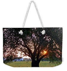 Tree With Fence. Weekender Tote Bag by Joseph Skompski