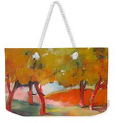 Weekender Tote Bag featuring the painting Trees #5 by Michelle Abrams
