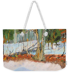 Trees And Snow Plein Air Weekender Tote Bag