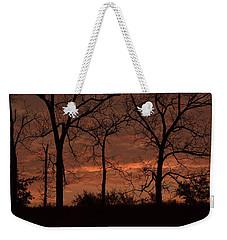 Trees At Sunrise Weekender Tote Bag