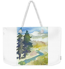 Weekender Tote Bag featuring the painting Trees by C Sitton