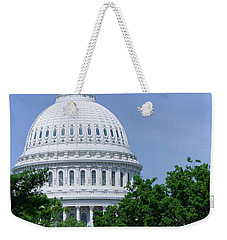 Trees In Spring And U.s. Capitol Dome Weekender Tote Bag