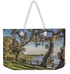 Weekender Tote Bag featuring the photograph Trees With A View by Jane Luxton