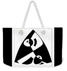 Weekender Tote Bag featuring the digital art Triangle by Wendy J St Christopher