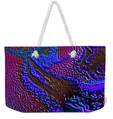 Weekender Tote Bag featuring the painting Tribal Princess by Mike Breau