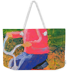 Weekender Tote Bag featuring the painting Tricycle by Donald J Ryker III