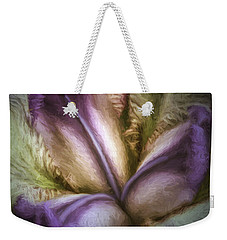 Weekender Tote Bag featuring the photograph Trinity by Jean OKeeffe Macro Abundance Art
