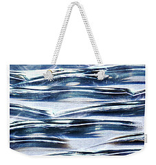 Weekender Tote Bag featuring the photograph Trio In Blue by Wendy Wilton