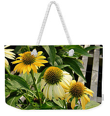 Weekender Tote Bag featuring the photograph Trio by Jean Goodwin Brooks