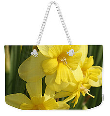 Tripartite Daffodil Weekender Tote Bag by Judy Whitton